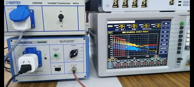 用知用EM5080B进行EMI传导测试视频